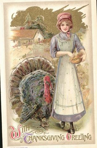 vintage-thanksgiving-woman-turkey-postcard